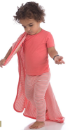 bamboo baby blanket coral stripe