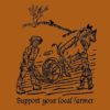 Local Farmer bamboo tshirt orange