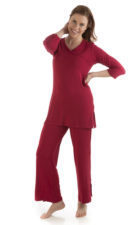 yala haley pajama set cranberry
