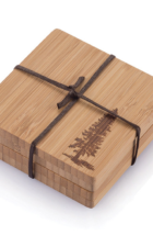 Bamboo Coaster Set Redwood