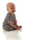 yala baby romper classic navy natural stripe