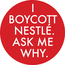 Boycott Nestle Badge