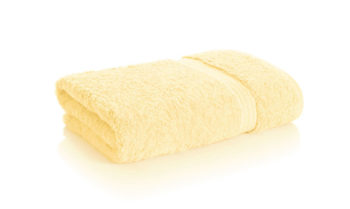 bamboo towel soft yellow