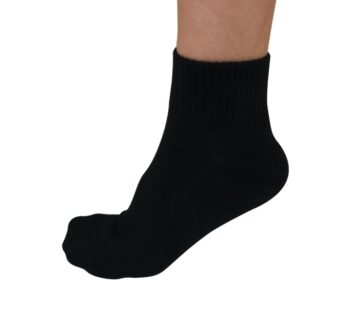 Bamboo ankle sock black 201