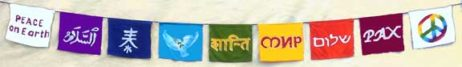 World peace prayer flags