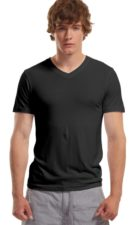 Mens Bamboo V-neck black
