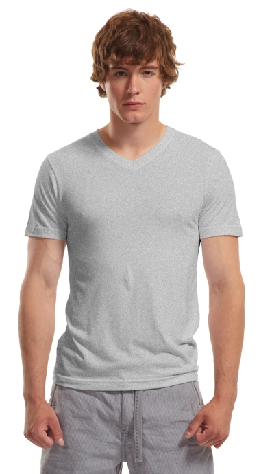 Mens Bamboo V-neck heather