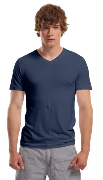 Mens Bamboo V-neck midnight