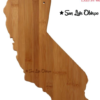 SLO CA Bamboo Cutting Board