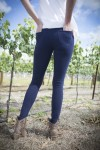 Bamboo Organic cotton skinny jeans rear