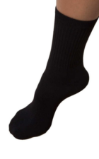 Bamboo Crew Socks black