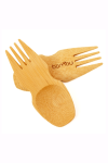 Reusable bamboo spork utensil