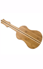 Ukelele bamboo cutting board