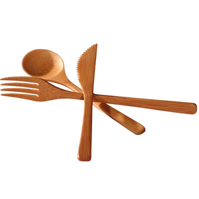 Bamboo fork spoon knife