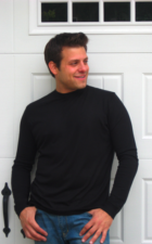 Mens long sleeve bamboo organic cotton shirt