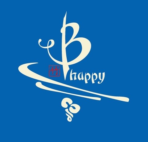 B Happy bamboo tee blue