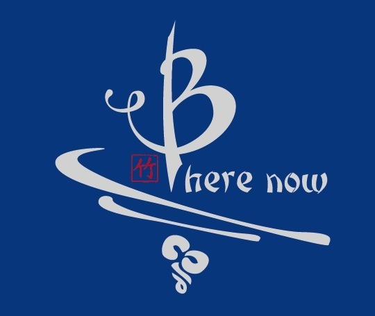 Be Here Now bamboo shirt in blue