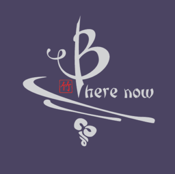 Be Here Now bamboo tee purple