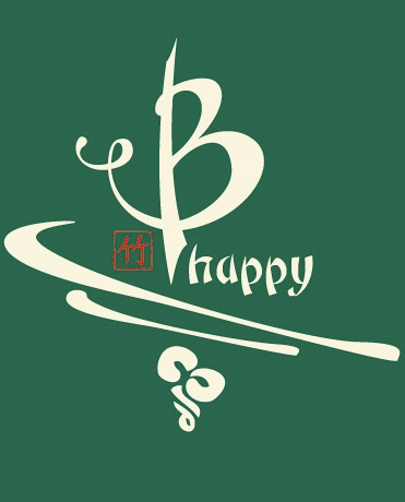Be happy bamboo tshirt in green