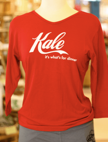 Kale bamboo shirt in red