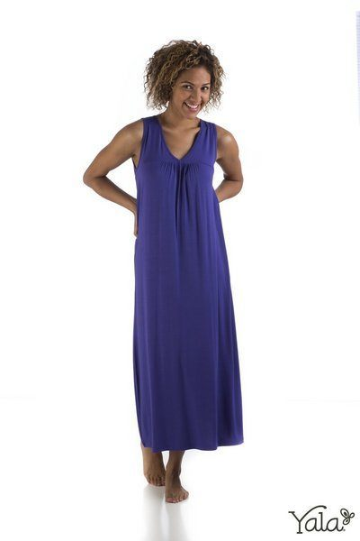 Molly bamboo gown in iris