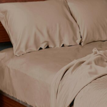 Bamboo sheets set champagne