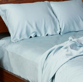 Bamboo sheets set sky blue