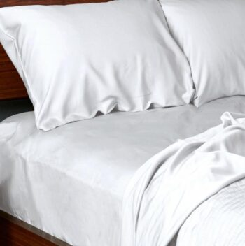 Bamboo sheets set white