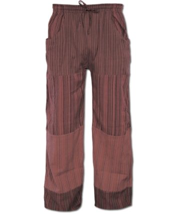 Fair Trade Cotton Lounge Pants maroon