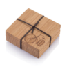 Bamboo Coaster Set Bike