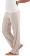 Lily Bamboo Lounge Pants Sand Micro Stripe