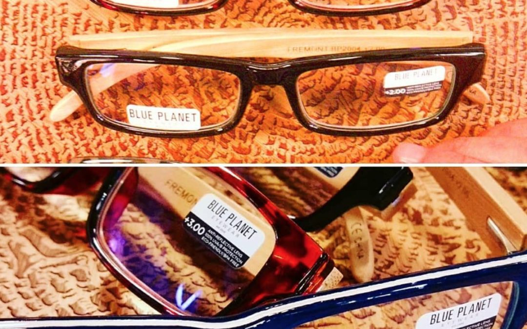 Bamboo reading glasses from Blue Planet eyewear