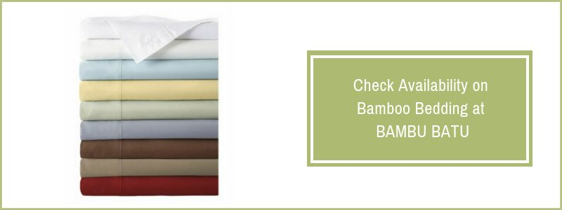 Bamboo sheets at Bambu Batu