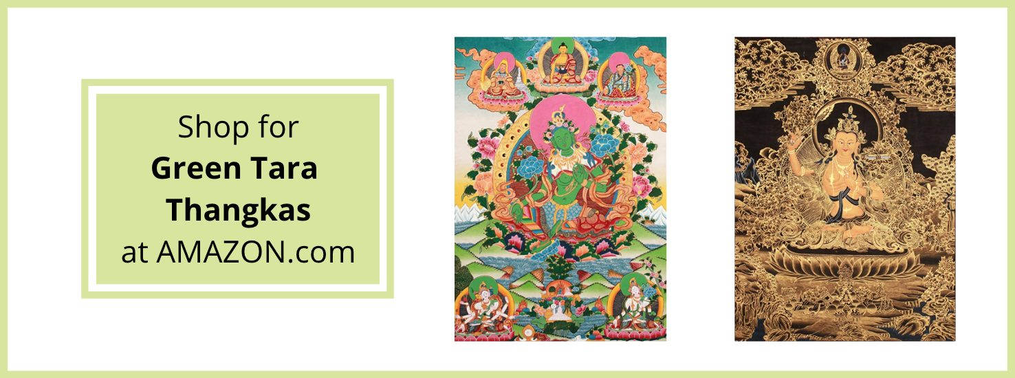Green Tara Thangka on Amazon