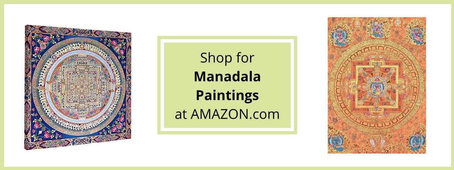 Mandala paintings at Amazon