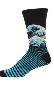 Mens bamboo socks wave