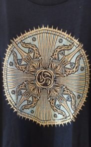 Mens organic cotton mandala tee