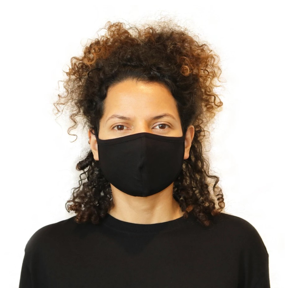 Bamboo face mask black