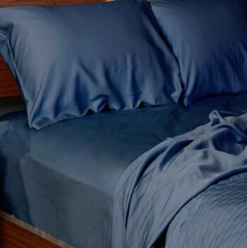 Bamboo sheets set indigo