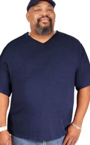 Big Boy Bamboo V-Neck Blueberry