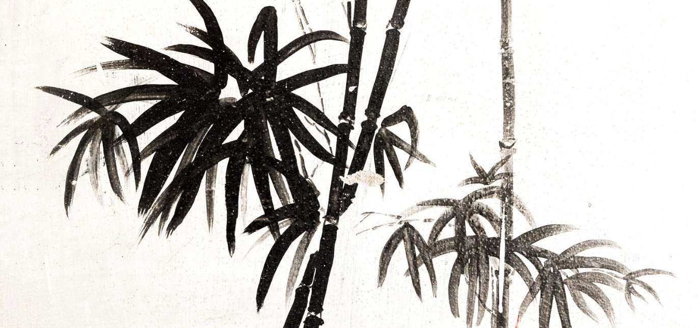 Bamboo painting simple elegance