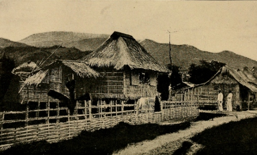 Bamboo huts in the Philippines