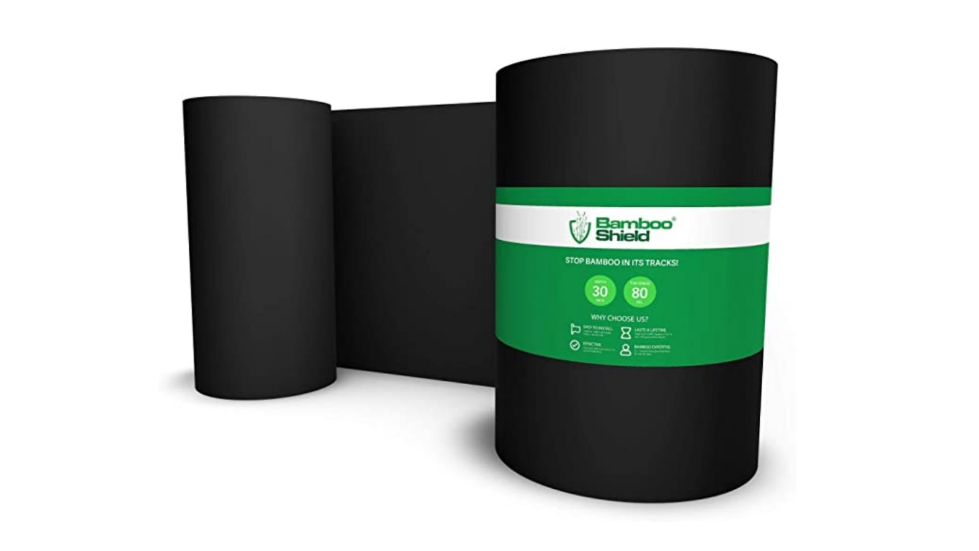 Bamboo root barrier 80mil